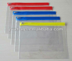 Transparent plastic pvc flat bag