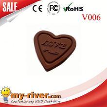 Promotional USB flash drive heart shape USB stick christmas gift memory stick