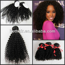 Best selling qingdao hot hair kinky curl human hair wefts