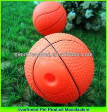 sitting dog toys ball of basketball
