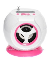 su-99 cute ball shaped mini speaker with Micro SD and USB