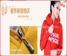 Free samples promotion slim fit warm plain korean fashion pullover custom cheap womens hoodies letter print
