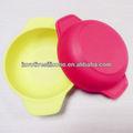 Mcdonald proveedor SB-002 FDA estándar de colores bajo precio bebé de silicona tazón