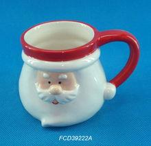 FCD39222A Christmas Santa head ceramic mugs
