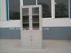 Glass Door Ivory Steel Metal Hospital Cabinet