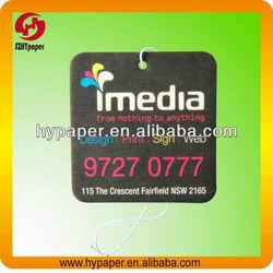 Custom Scent Paper Car Freshener For Promotion