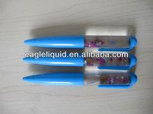 promotion gift design floated in the water bottle star inside blue liquid floating pen