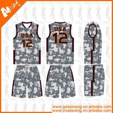 LB31 Sublimation camouflage Basketball Uniform basketbll jersey