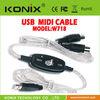 2. USB MIDI Cable Adaptor Keyboard to PC for XP Vista MAC