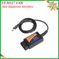 De haute qualité 2013 cncscanner elm327 elm 327 obd 2 obd2 obd-ii usb voiture de diagnostic scanner obdii adaptateur cd avec livraison gratuite