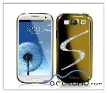 Designer Case For Samsung Galaxy s3 i9300 TITAN Luxury Rhinestone Bling Chrome Mirror Hard Case