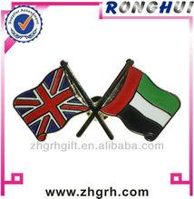 UK U.A.E friendship flag metal badge lapel pin manufactory maker