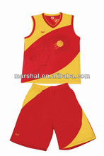 Thailand quality basketball uniform design color red, sportwear for basketball cheap, last basketball jersey uniform design