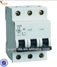 3pole mcb switch c45 miniature circuit breaker