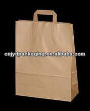 custom kraft paper bag flat handle