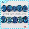 Wholesale Natural Agate Titanium Royal Blue Window Drusy Oval Shape CAB Stone D040305