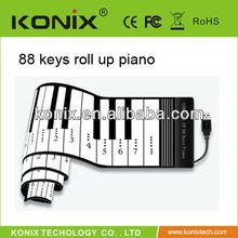 USB MIDI flexible piano keyboard