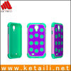 Newest hybrid soft silicone hard plastic mobile phone cover for samsung galaxy S4