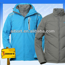 JHDM-3524 waterproof thermal windproof mens 2 in 1 sport outwear rocketsports outdoor jacket