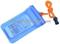Mobile phone durable lanyard PVC waterproof bag for iphone samsung 8colors materials