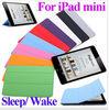 "Brand New 9 colors 7.9 inch Slim Smart Case Cover 7.9"" PU Leather Magnetic Case with Stand sleep/ wake function for iPad Mini"