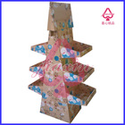 paper wire cardboard display stand with 3 tiers