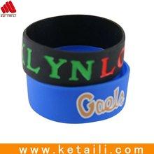 Fashion promotion silicone bangle with custom logo