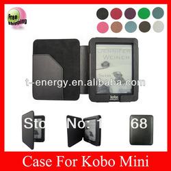Smart Cover leather case for Kobo mini eReader,kobo mini eReader leather case,wake/sleep,black