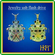 Jewelry beetle shape usb stick, gold usb flash memory