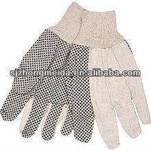 65/35 Cotton XL Palm Dot Men's Knit Wrist Wring Straight Thumb Cotton Canvas Glass Factory Cotton Glove Canvas Dot Gardening