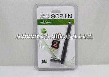 150Mbps Mini USB Wireless WiFi Network Card 802.11n/g/b w/Antenna LAN Adapter