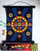 Roll Up Velcro Magnetic Dartboard Game Set