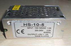 5V/2A/10W switch mode power supply,size:84*58*38mm