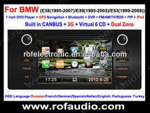 car radio dvd player gps For BMW E39 E38 E53 X5