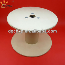 wooden spool with kraftpaper tube for optical fibers winding bobbin 450mm