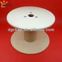 carretel de madeira com kraftpaper tubo para fibras ópticas de enrolamento da bobina 450mm