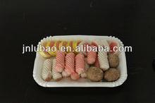 PE coating paper fresh vegetable/food trays