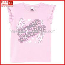 Fashion Printed Children's T-Shirts Beautiful Girl's Sleeveless T-shirt