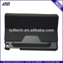 twill leather belt clip case for ipad mini