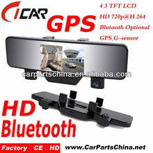 bluetooth dual camera 30fps hd 1080p g-sensor motion activated dvr
