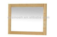 Oak Wood Frame Wall Mirror (CO8118)