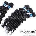 Súper fadianxiu belleza 3a productos para el cabello virgen miami populares del pelo rizado de la armadura marcas