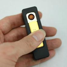Customized logo battery USB lighter gift premium gift