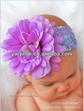 Hot sale Mixed color Headband with Flower for Girls Baby Purple Flower Headband Hair Accessories for Children
