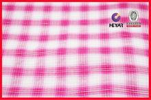 100 cotton shirting fabric yarn dyed woven big checks design