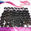 Onda natural 100% malásia remy cabelo humano rabo de extensão