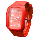New silicone quartz wrist watch Customs logo