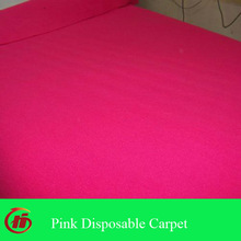 needle punched non woven pink disposable exhibition carpet