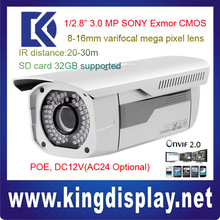 DAHUA dh-IPC-HFW3300 3 Mega Pixel POE onvif2.0 ip IR ip cctv camera 30 meters vehicle License plate