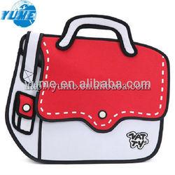 NEW Comic 3D Cross Body & Messenger Shoulder BAG/Unisex Casual 2D Cartoon Bag RED